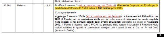Produttività, i soldi vanno agli alluvionati. E il ministro Corrado Passera non se ne