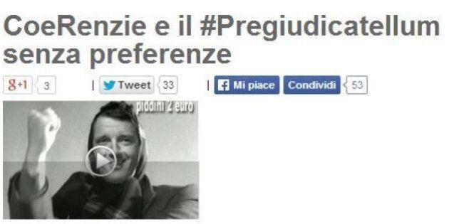 Blog Beppe Grillo: Matteo Renzi e Silvio Berlusconi? La loro riforma elettorale è il