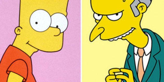 Bart Simpson appare in un'aula inglese di fronte a Mr.