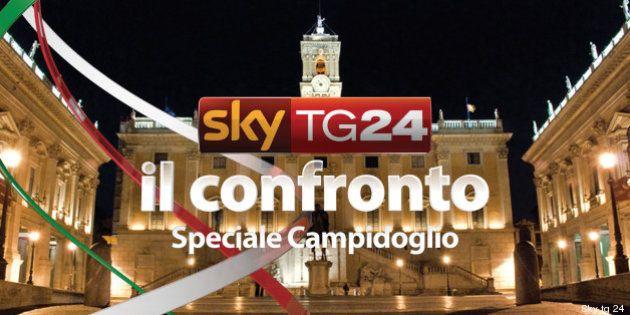 Elezioni Roma 2013: ballottaggio Gianni Alemanno e Ignazio Marino al confronto di Sky