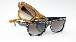 Gli occhiali con le borchie di