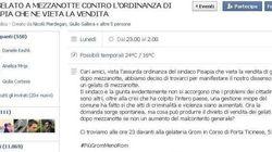 Contro l'ordinanza anti-gelato i politici Pdl e Fdi lanciano l'hashtag