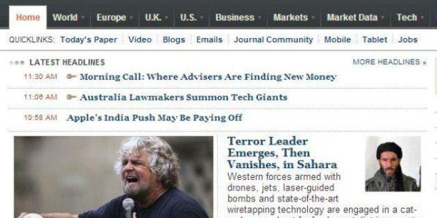 Elezioni 2013: il Wall Street Journal studia il fenomeno Beppe Grillo,