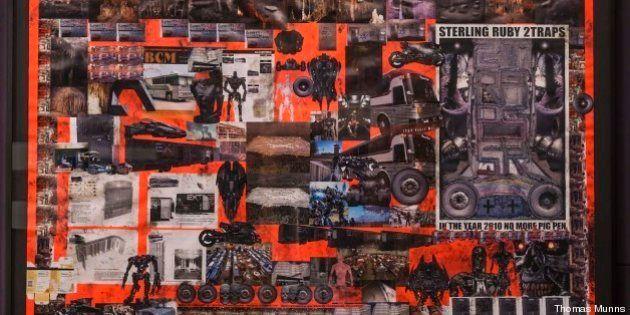 Sterling Ruby in mostra a Roma: la tecnica del collage come