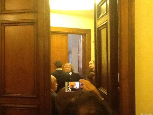 Beppe Grillo in Senato: