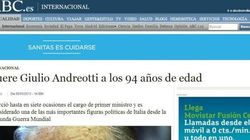 Muore Giulio Andreotti: la notizia sui siti dei giornali stranieri