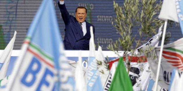 Piazza del Popolo, Silvio Berlusconi non crede alle larghe intese con il
