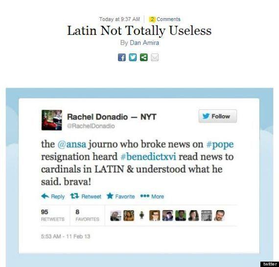 Dimissioni Papa: la stampa internazionale fa i complimenti alla vaticanista Giovanna Chirri. Il latino?...