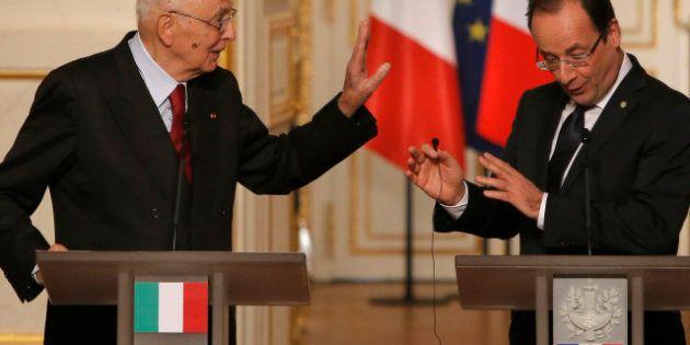 Il Monti bis al vertice Napolitano-Hollande, ma il presidente francese non garantisce per Bersani......
