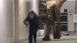Aiuto, c'è un tirannosauro nel palazzo! La candid giapponese è già un tormentone