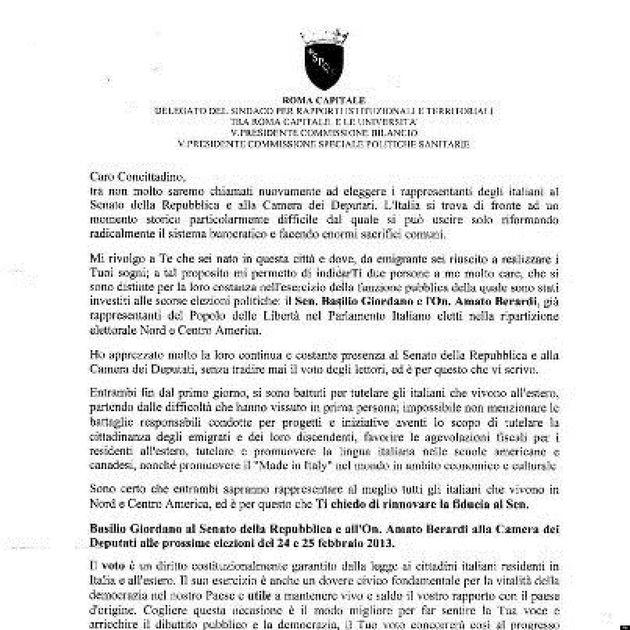 Elezioni 2013: il comune di Roma chiede di votare il Pdl, Marco Siclari delegato di Gianni Alemanno per...