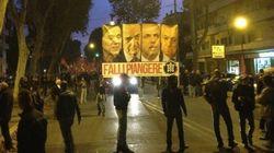 Corteo Casapound, slogan anti-Monti e