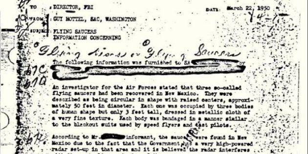 UFO: Questo è il documento FBI più visitato nella 'camera blindata' del