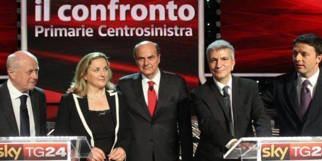 Primarie centrosinistra, sarà ballottaggio: Bersani 44,6%, Renzi 36,9%, Vendola 14,4%