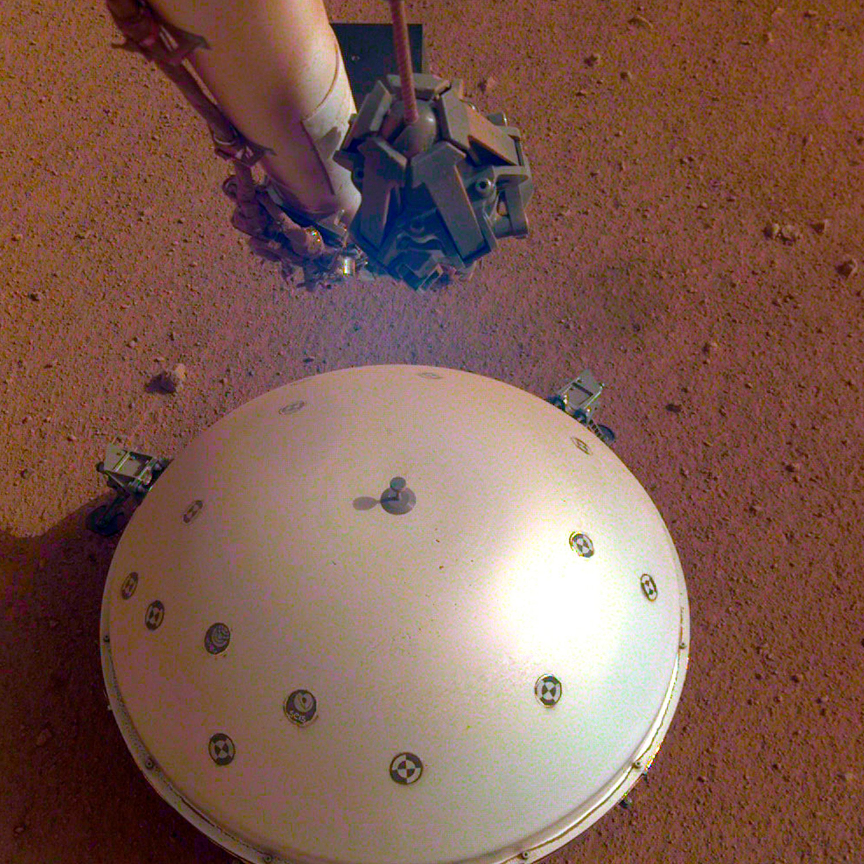 The tremorwas detected by InSight's French-built seismometer, an instrument sensitive enough to measure a seismic