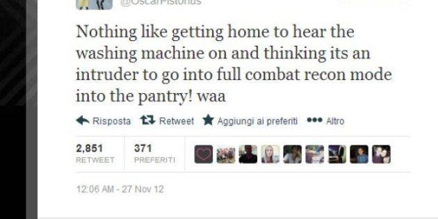 Pistorius uccide fidanzata, ombre sul campione sudafricano? Quello strano tweet di novembre: