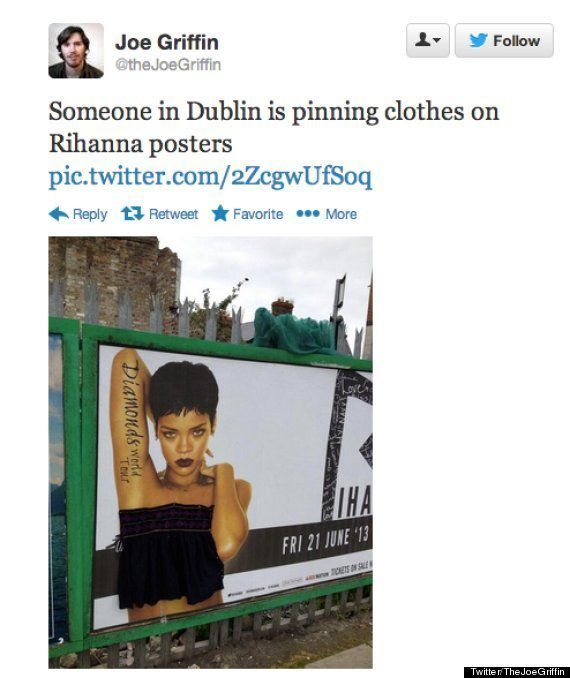 Rihanna: topless sui manifesti del Diamonds Tour non piace ai dublinesi. Lo