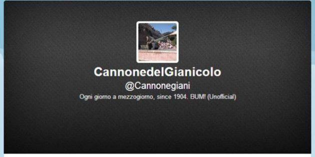 Il Cannone del Gianicolo su Twitter: ogni giorno a mezzogiorno fa