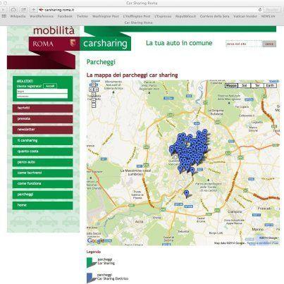 Car Sharing, a Roma funziona solo in pieno centro. La denuncia dell'Adoc: