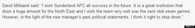 Calcio: Paolo Di Canio diventa allenatore del Sunderland e il laburista David Miliband si dimette dal...