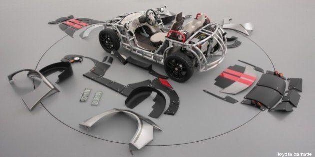 Toyota Camatte: l'auto elettrica come i mobili Ikea, si monta e si smonta