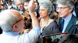 OccupyPd, un sindaco calabrese guida la protesta all'assemblea alla Fiera di Roma: Giovanni