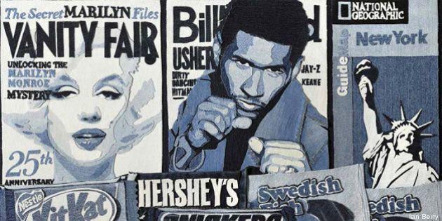Sculture e ritratti fatti di jeans: Ian Berry, artista britannico con la passione del denim