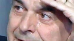 Lacrime di Bersani a Porta a Porta per la foto del parroco. Poi l'attacco a Renzi: