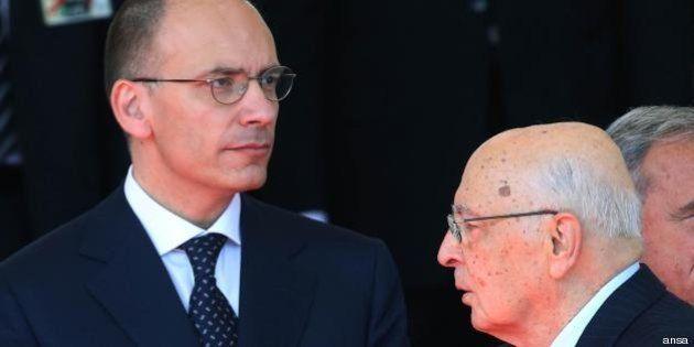 Enrico Letta incontra Giorgio Napolitano e Angelino Alfano: il vicepremier ribadisce le condizioni del