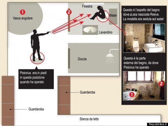 Oscar Pistorius: la planimetria della casa, la ricostruzione dell'omicidio