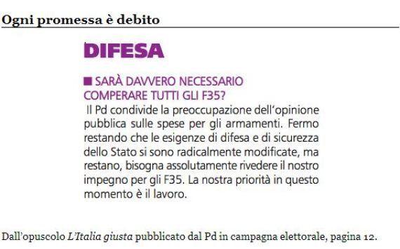 F35: il Pd ipotizza sospensione temporanea dell'acquisto, Nichi Vendola: