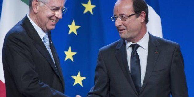 Bilancio Ue e Unione bancaria, il patto di ferro tra Mario Monti e François Hollande nel vertice di