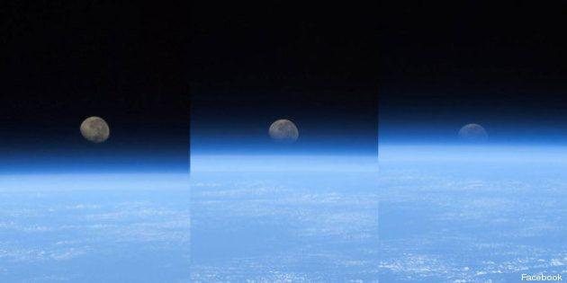 FOTO Luca Parmitano: la Luna al tramonto vista dallo spazio
