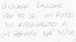 La lettera di Miccoli a Falcone: