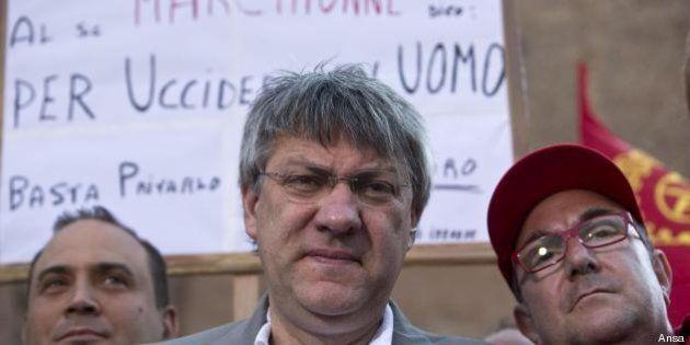 Corteo Fiom, Maurizio Landini e i suoi a palazzo larghe intese: Zanonato ci ha ricevuto. Ora i