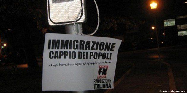 Cecile Kyenge a Pescara, cappi simbolici firmati Forza Nuova: