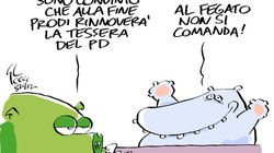 Romano Prodi, la tessera