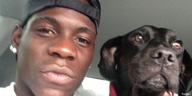 Mario Balotelli debutta su Twitter, la prima foto è con il suo cane