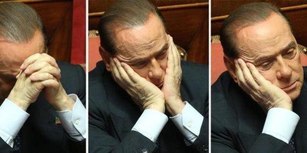 Sivlio Berlusconi nel giorno della fiducia a Letta. L'ultima settimana del Cavaliere