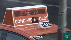 Un taxi particolare gira per