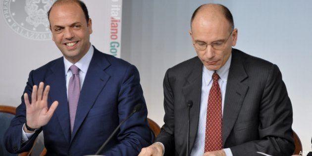 Angelino Alfano: non è un governo d'amore ma solo di interesse del Paese, il governo non è legato ai...