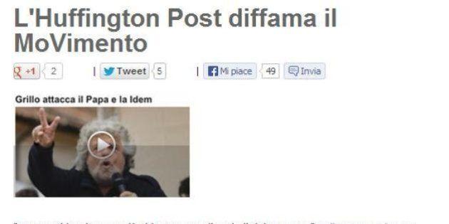 Blog Beppe Grillo un lettore critica HuffPost: