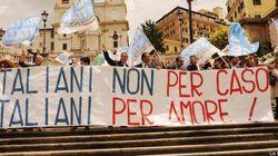 Fratelli d'Italia, flash mob per dire no allo Ius soli