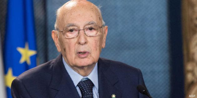 Giorgio Napolitano incontra l'Associazione della Stampa Parlamentare al Quirinale