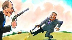Berlusconi perde il duello con Letta. Il Cav si spara su un piede... a forma