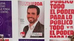 Alberto Garzón denuncia el repugnante mensaje aparecido junto a sus carteles