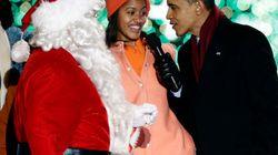 Obama e la famiglia accendono l'albero di Natale a Washington