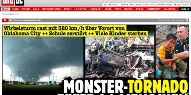 Tornado in Oklahoma: la notizia sui siti di tutto il mondo