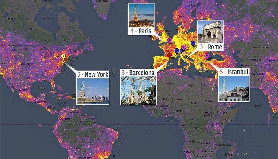 Google Maps rivela le città più fotografate del mondo. Prima New York, poi Roma, Barcellona, Parigi