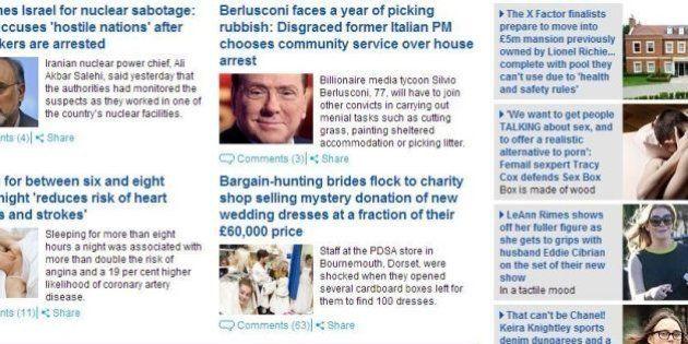 Silvio Berlusconi dovrà raccogliere l'immondizia per un anno. Il Daily Mail prende in giro il Cavaliere